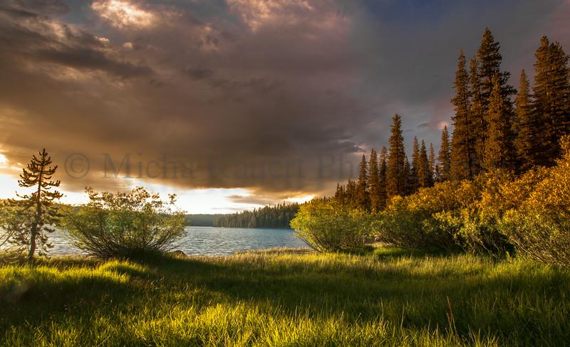 Sunset at Juniper Lake
