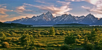 Teton Range at Sunset