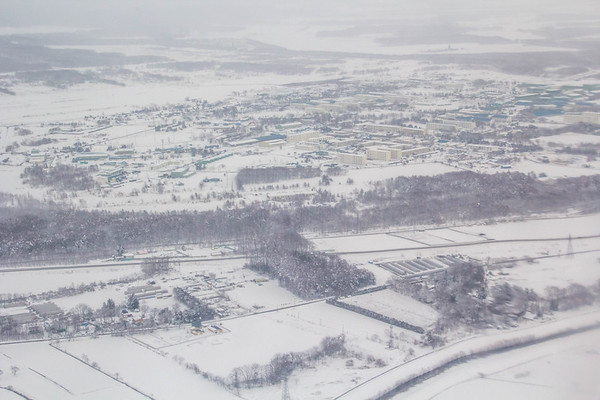 Blizzard in March, Hokkaido, Japan