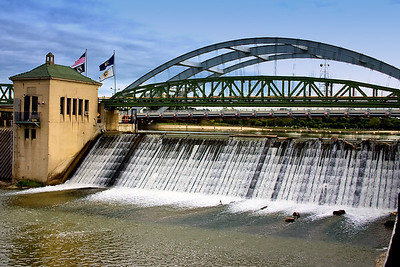 Overlooking the Genesee River, Downtown Rochester, NY