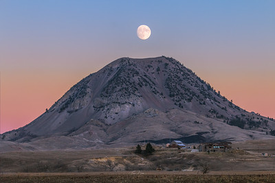 Bear Butte Moon Rise