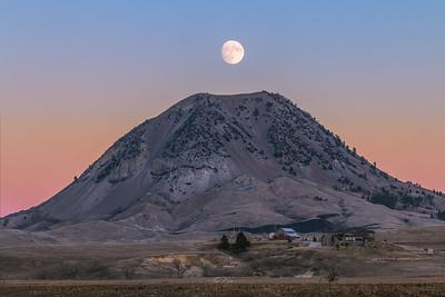 Bear Butte Moon Rise