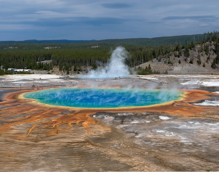 Grand Prismatic Spring   Yellowstone Park