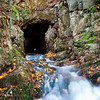 Cave at the top of Wentworth Falls, Nova Scotia