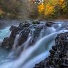 Autumn at Marie Canyon rapids