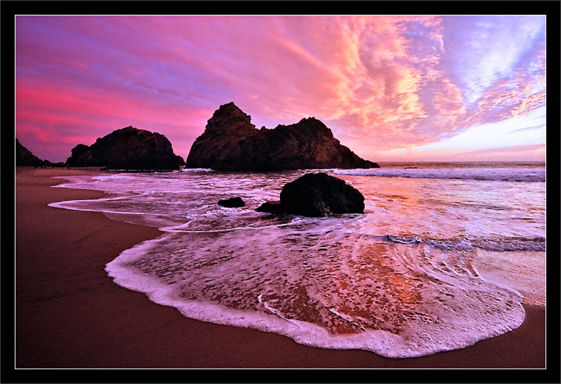 Pfeiffer Beach: Clouds Breaking at Sunset
