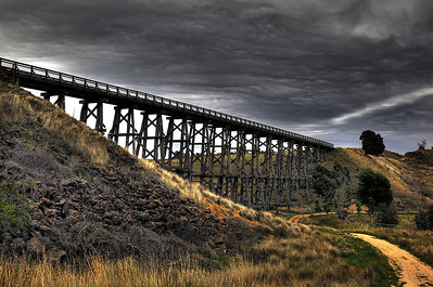 "Nimmons Bridge - winner of First Place for ""Best Manipulated Photographic Print"" at the Kerang Art Show 2011"