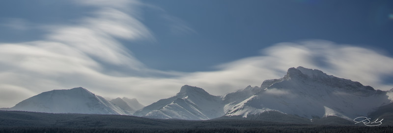 Clouds and  Mountain Ridges