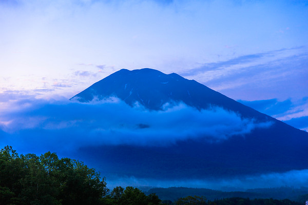Blue Moment at 4:01AM, Mt. Yotei