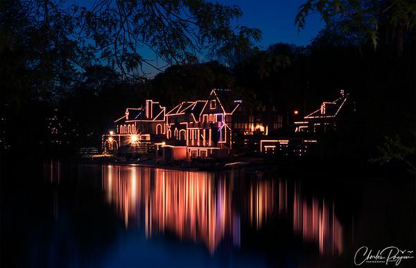 Philadelphia Boathouse Row Illuminated