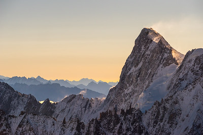 Grandes Jorrasses at sunrise, Chamonix, France