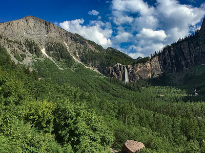 Bridal Vail Falls and Black Bear Pass Rd in Telluride Colorado