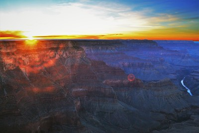 Grand Canyon Sunset & Colorado River