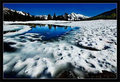 Spring Pond  Melting snow forming a small pond  Yosemite High Country  20-JUN-2006