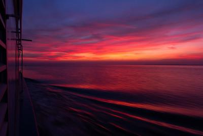 Sonnenuntergang auf dem Bodden