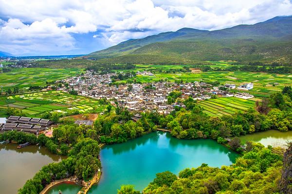 Water Green  Lakeside Naxi Village Guan Yin Xia, Lijiang Yunnan, China