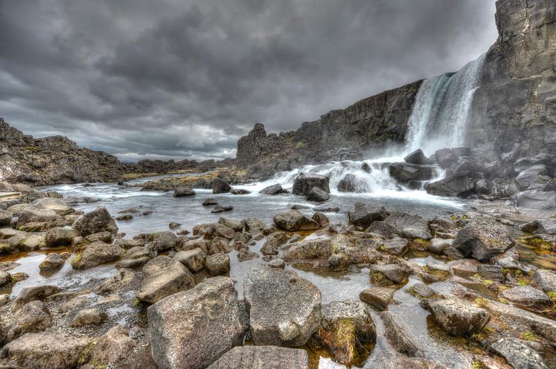 Waterfall at Thingvellir