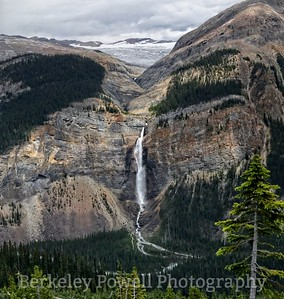 Takakaw Falls with the Daly Glacier Above