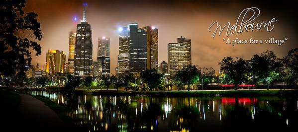 Melbourne City HDR - A place for a village