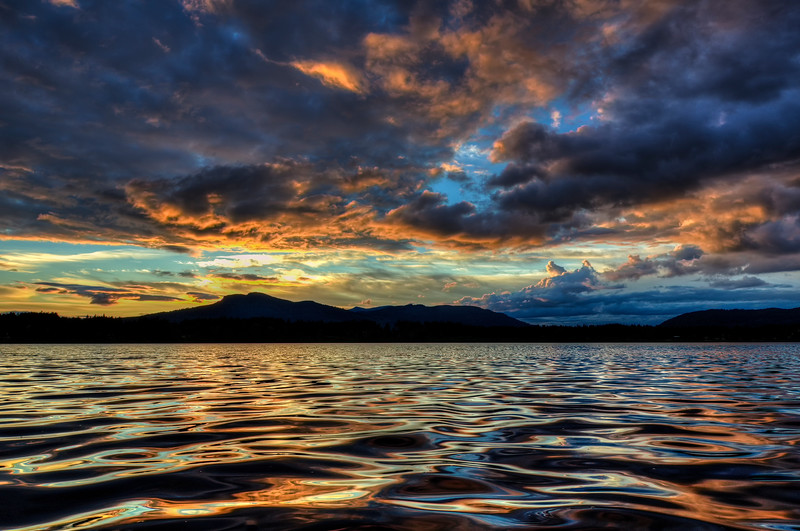 Sunset colours at Quamichan Lake