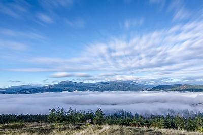 Blanket over the Cowichan Valley (single shot)