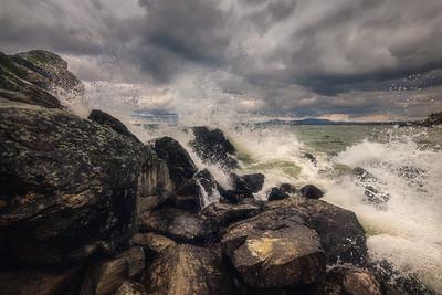 Stormy morning at the Baikal