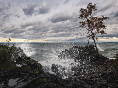 October on the Baikal shore
