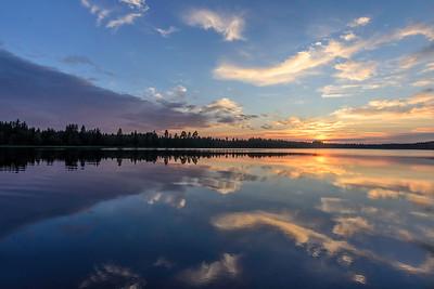 Sunset silence on the lake of Pieni-Jormanen 2