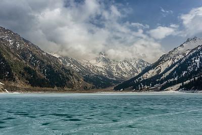 Frozen silence. Big Almaty Lake & Tien Shan mountains