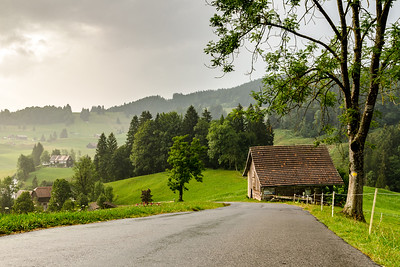 Swiss rainy landscape