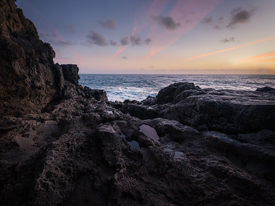 The last light at Boca do Inferno cave