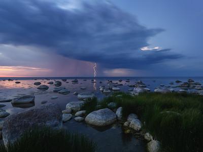 White night thunderstorm