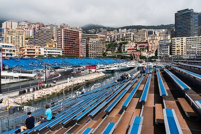 Stand N looking across to K - Monaco Historic GP 2018