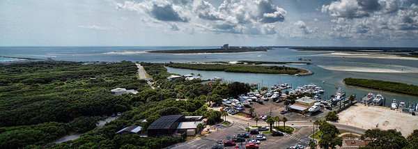 View of Ponce Inlet from the Lighthouse.