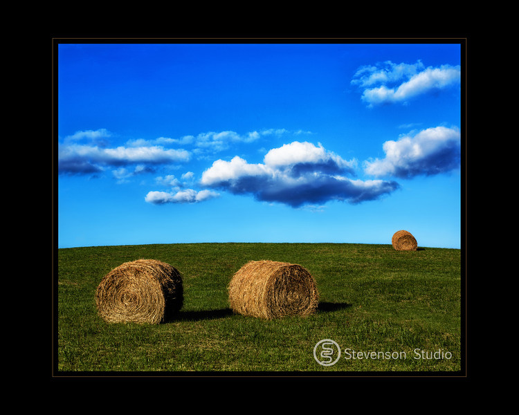Hay Bales In The Late Afternoon