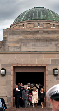 Australian War Memorial, visited by Prince Charles