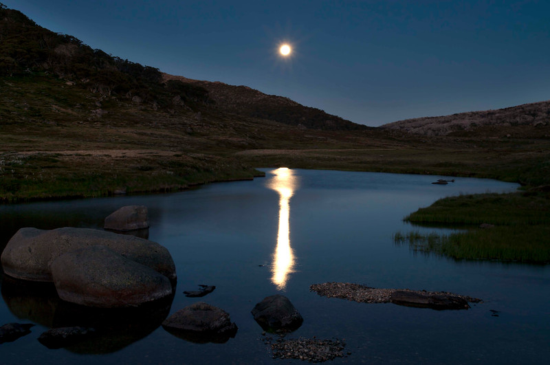 Full Moon, Spencer's Creek, Kosciuszko Road