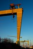 Samson & Goliath, Belfast (For those who don't know, the famous Harland and Wolfe Shipyards is the place of Titanic's birth. I was 'chastised' several times for not having a photo that showed both of the iconic cranes from the shipyards, which dominate the Belfast skyline. I aim to please!)