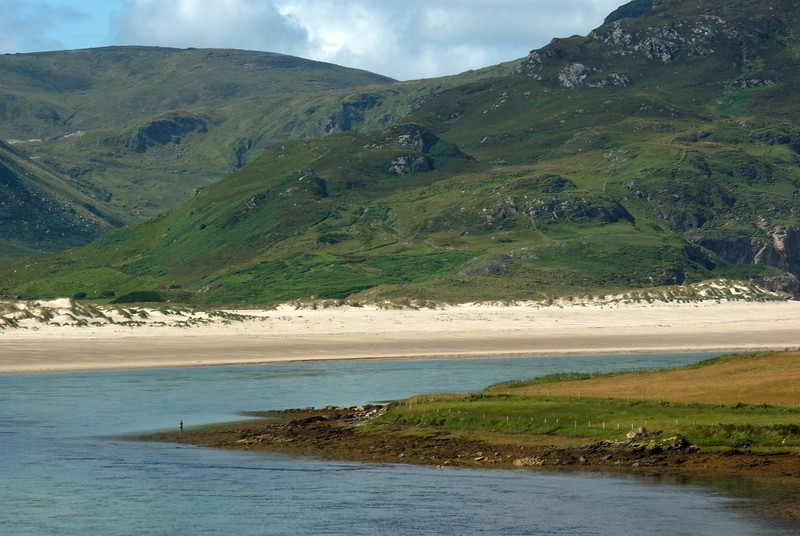 Fishing with the Gods. Maghera Beach, Ardara, Co. Donegal (The size of the fisherman gives a great element of scale to this photo)