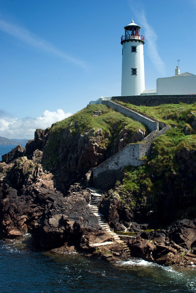 Fanad Head Lighthouse, Co. Donegal (I have a romantic notion about lighthouses, and what it would have been to be a keeper. I'm sure my romantic notion is far from the truth, as with anything else, but this shot captures that notion for me, with the winding steps etc...)