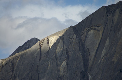 Rock slabs on Sawback Ridge/Banff National Park