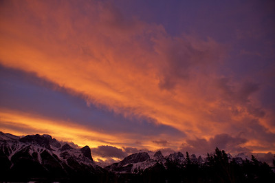 Sunset over Canmore/Alberta