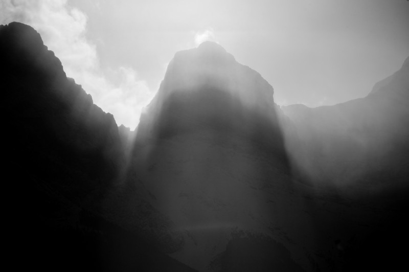 mystical shadows on Middle Sister
