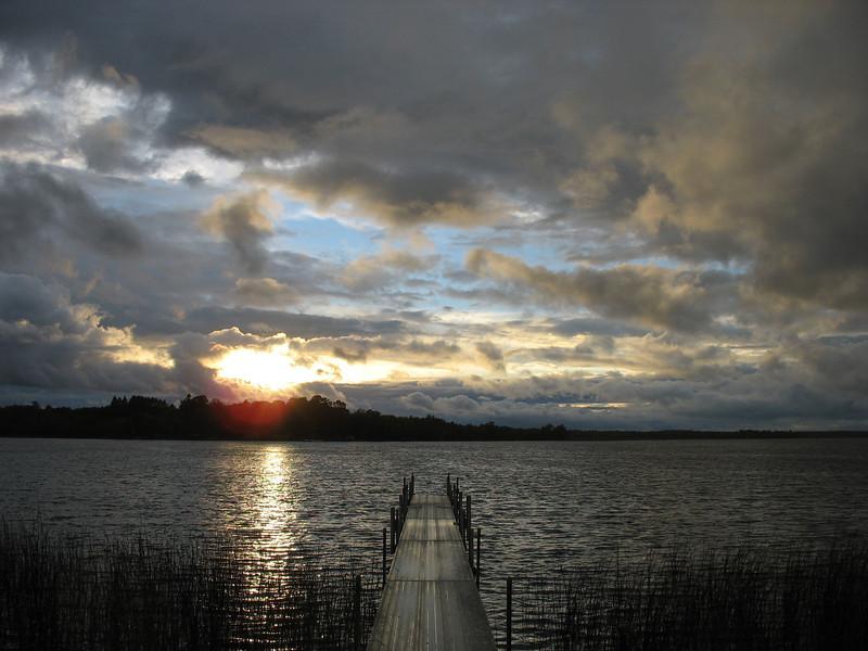 Sunset, East Bass Lake