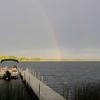 Rainbow over Bass Lake
