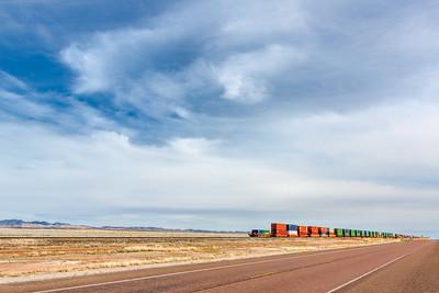 Disappearing Train - Somewhere near Valentine, Texas