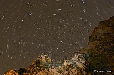 Star trails @ Parowan, Utah, USA