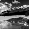 Reflections of a frozen Lake Louise