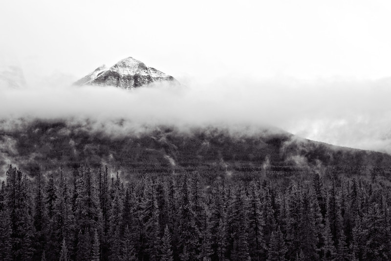 Temple Mountain in the clouds