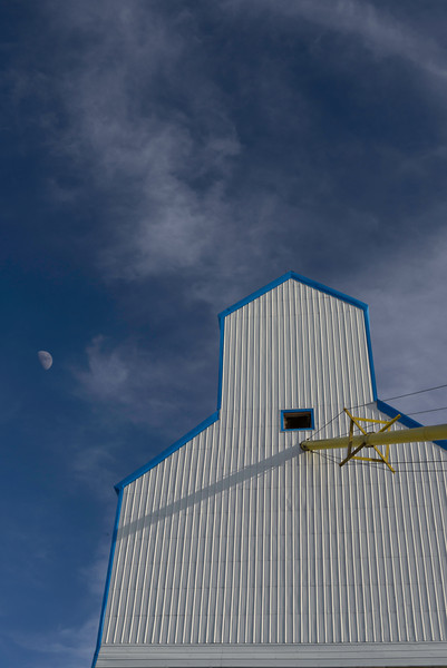Moon over the grain elevator